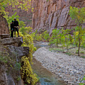 Hikers Zion National Park by Daryl L Hunter