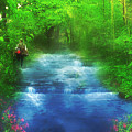 Hiking At The Rivers Edge by Gravityx9  Designs