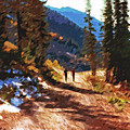 Hiking Couple In The Wasatch by Steve Ohlsen