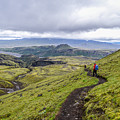 Hiking Into Thorsmork On The Fimmvorduhals Trail by Alex Blondeau