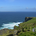 Hiking Path Along The Top Of The Cliff's Of Moher by DejaVu Designs