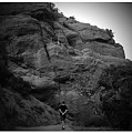 Hiking The Trails In Black And White by Lorie Stevens