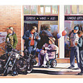 Hilda Hogs And Harleys by Mike Hill