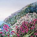 Hills Of Positano Amalfi Coast Italy by Irina Sztukowski