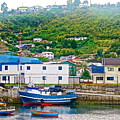 Hillside Along Harbor Near Angelo Fish Market In Puerto Montt-chile  by Ruth Hager