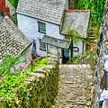 Hillside Cottages In Clovelly, Devon, Uk by Chris Smith