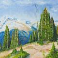 Hillside In Spring, 9x12, Oil, '07 by Lac Buffamonti