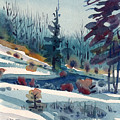 Hillside In Winter by Donald Maier