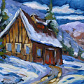 Hillsidebarn In Winter by Richard T Pranke