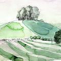 Hilltop Copse by Elizabetha Fox