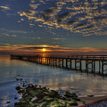Hilton Pier Sunset by Jerry Gammon