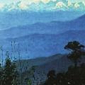 Himalayas In The Evening 1875 Vasily Vereshchagin by Eloisa Mannion
