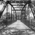 Hinkson Creek Bridge In Black And White by Cricket Hackmann