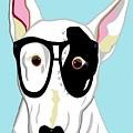 Hipster Bull Terrier by Eloise Schneider Mote