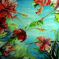 Hiroko's Hibiscus 4 by Rachel Lowry