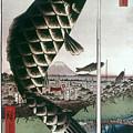 Hiroshige: Kites, 1857 by Granger