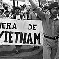 Hispanic Anti-viet Nam War March 2 Tucson Arizona 1971 by David Lee Guss