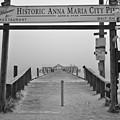 Historic Anna Maria City Pier In Fog Infrared 52 by Rolf Bertram