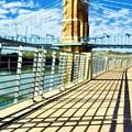 Historic Bridge In Cincinnati by Mel Steinhauer