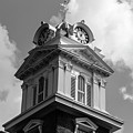 Historic Courthouse Steeple In Bw by Doug Camara