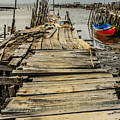 Historic Fishing Pier In Portugal I by Marco Oliveira
