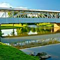 Historic Halls Mill Bridge Reflections by Adam Jewell