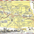 Historic Pioneer Trails Map 1843-1866 by Charles Robinson