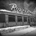 Historic Rosie's Diner In Black And White Infrared by Randall Nyhof