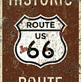 Historic Route 66 Highway Sign by Christopher Arndt