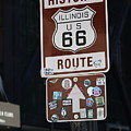 Historic Route 66 Sign Chicago by Colleen Cornelius