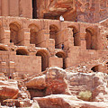 Historic Ruins In Petra by David Birchall