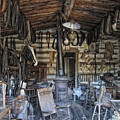 Historic Saddlery Shop - Montana Territory by Daniel Hagerman