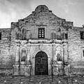 Historic San Antonio Alamo Mission - Black And White Edition by Gregory Ballos