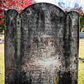 Historic Stone - Quaker Cemetery by Alicia Collins