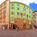 Historic Street Of Innsbruck Panoramic View by Brch Photography