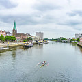 Historic Town Of Bremen And Weser River by JR Photography