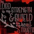 Hisworks Godart 8 Psalm 28 7 The Truth Bible Art by Reid Callaway