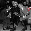 Hitler Conferring With Joseph Goebbels Circa 1936 Color Added 2016 by David Lee Guss