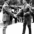 Hitler Shaking Hands With Rudolf Hess Circa 1935 by David Lee Guss