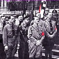 Hitler With Nazi Entourage Hess And Himmler In 2nd Row Circa 1935 Color Added 2016 by David Lee Guss