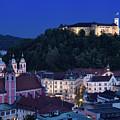 Hlltop Ljubljana Castle Overlooking The Old Town Of Ljubljana Ca by Reimar Gaertner