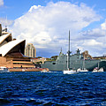 Hmas Adelaide Helps Sydney Celebrate by Miroslava Jurcik