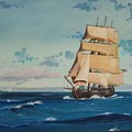 Hms Bounty On Lake Superior by Werner Pipkorn