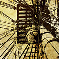 Hms Bounty - Up The Mast - 2 by Mark Fuge