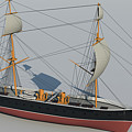 Hms Warrior 1860 - Bow To Stern Technical by Christopher Snook