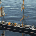 Hms Warrior 1860 - Stern To Bow Ocean by Christopher Snook