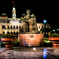 Ho Chi Minh City Hall At Night by Andrew Matwijec