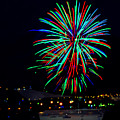 Hobart New Years Eve Fireworks by Tony Crehan