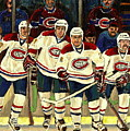 Hockey Art The Habs Fab Four by Carole Spandau