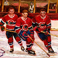Hockey At The Forum by Carole Spandau